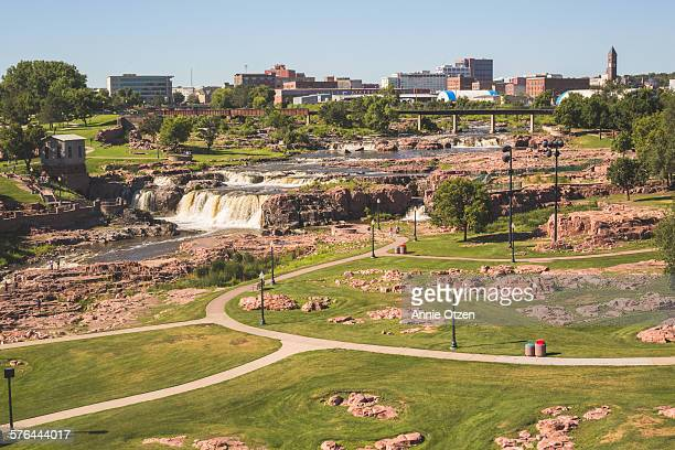 sioux falls falls - south dakota stock photos and pictures