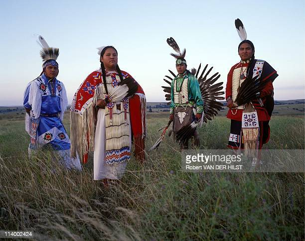 Sioux Lakota in Rosebud Reservation In United States In April, 2003.