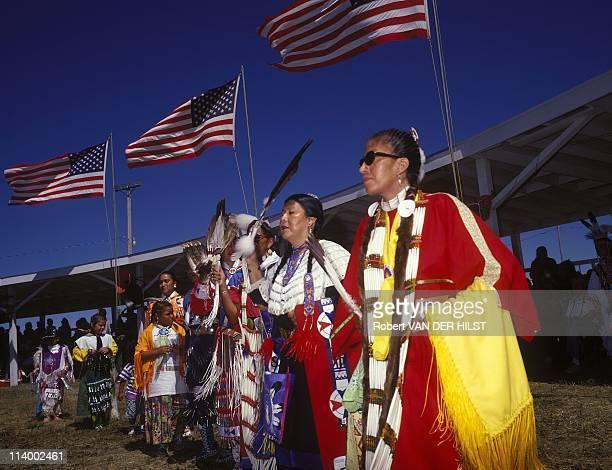 Sioux Lakota in Rosebud Reservation In United States In April, 2003.