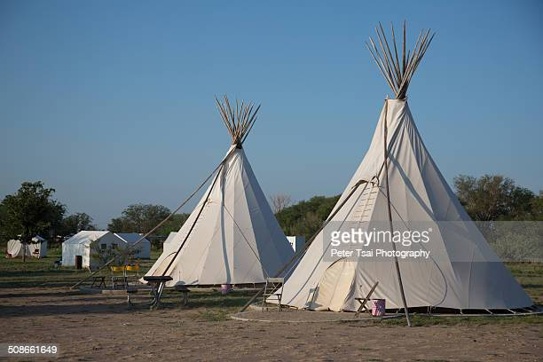 Sioux style teepees at the El Cosmico campground in Marfa Texas