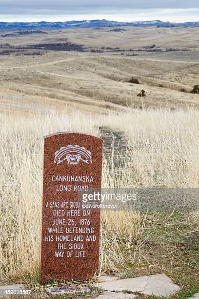 Sioux Warrior Death Markers at Little Bighorn Battlefield Monument