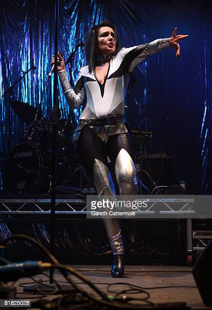 Siouxsie performs on the Sandisk stage during day 2 of the O2 Wireless Festival 2008 on July 4 2008 in London England