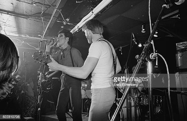Siouxsie Sioux and Peter Fenton of Siouxsie and The Banshees perform on stage at The Roxy London 1977