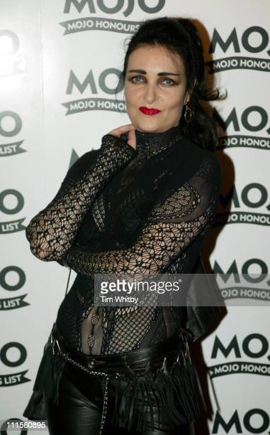 Siouxsie Sioux during The 2005 Mojo Honours List at Porchester Hall in London Great Britain