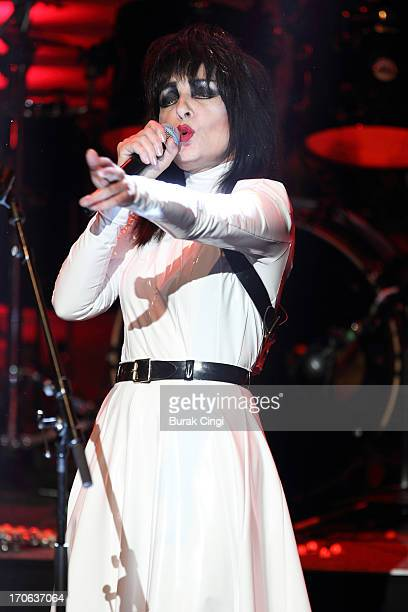 Siouxsie Sioux performs on stage at Meltdown Festival 2013 at the Royal Festival Hall on June 15 2013 in London England