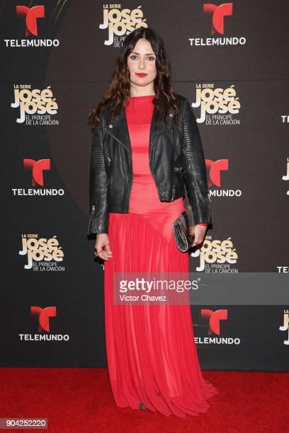 Siouzana Melikian attends the 'Jose Jose El Principe De La Cancion' Telemundo tv series premiere at Four Seasons hotel on January 11 2018 in Mexico...