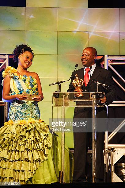 Sipho Makhabane on stage during the 3rd annual SABC Crown Gospel Awards at the Durban International Convention Centre on December 2 2010 in Durban...