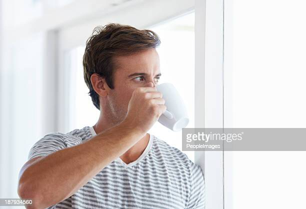 Sipping on a strong brew