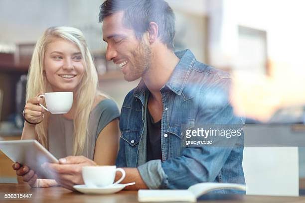 Sipping some coffee and sharing stories