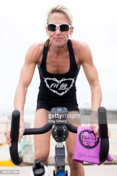 Sippy Brennan rides at the 6th Annual Tour de Pier at Manhattan Beach Pier on May 20 2018 in Manhattan Beach California