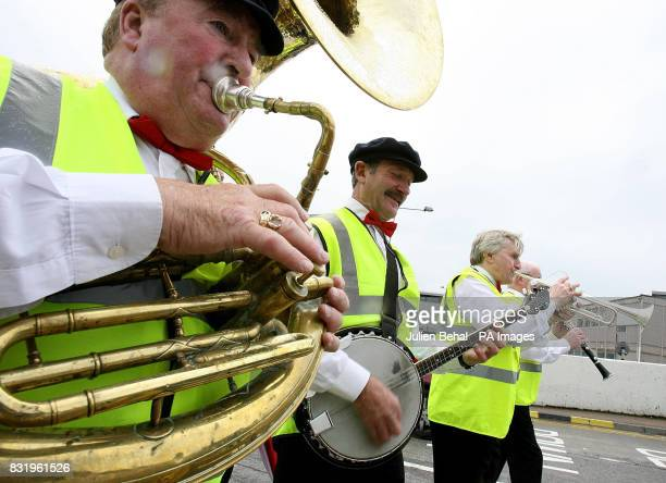 Siptu members play Ragtime songs during the SIPTU 70th birthday rally at Dublin Airport No government TDs attended the rally organised to oppose the...