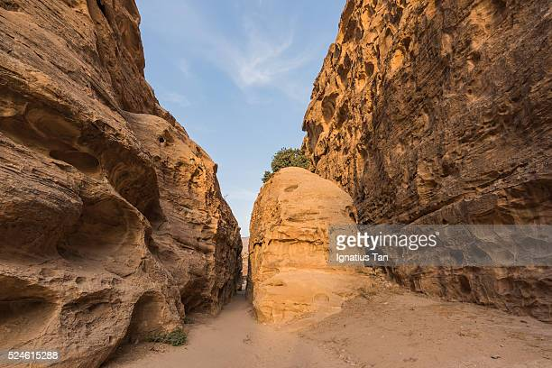 siq al-barid (little petra), jordan - ignatius tan stock photos and pictures