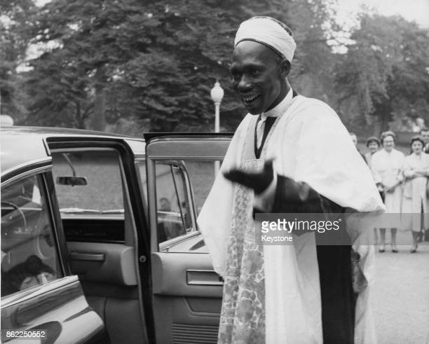 Sir Abubakar Tafawa Balewa the new Prime Minister of Nigeria outside the White House in Washington DC after meeting President Eisenhower 11th October...