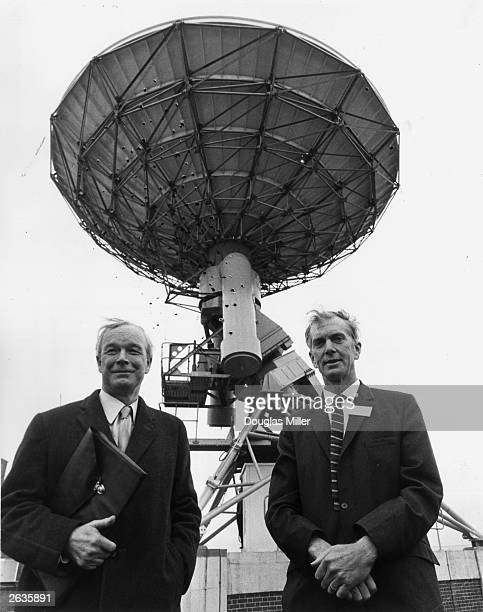 Sir Alan Hodgkin left President of the Royal Society and Sir Martin Ryle the Astronomer Royal at the inauguration of the new 5km Radio Telescope at...