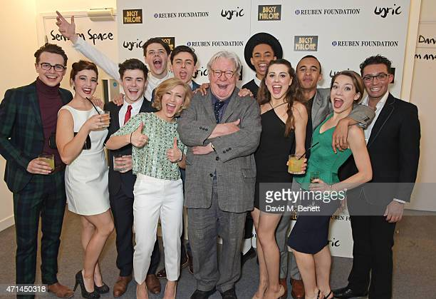 Sir Alan Parker poses with cast members including Hammed Animashaun Miles Barrow Katie Blythe Isaac Gryn Ainsley Hall Ricketts Dominic Harrison...