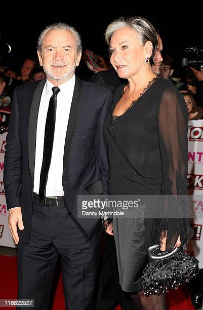 Sir Alan Sugar and friend attend The National Television Awards 2008 in the Royal Albert Hall on October 29 2008 in London England