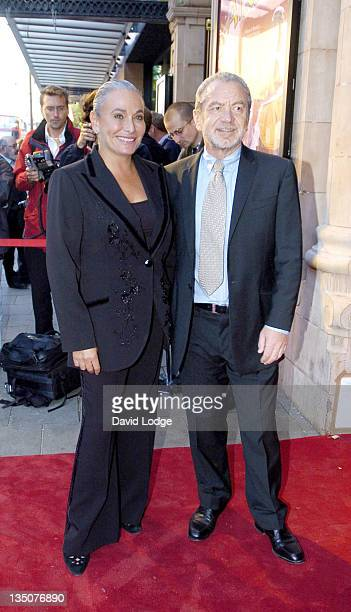 Sir Alan Sugar and guest during Hackney Empire Cabaret Performance Arrivals at Hackney Empire in London Great Britain