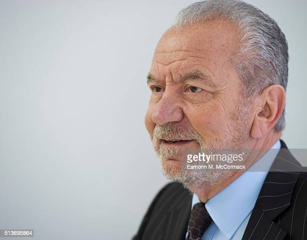 Sir Alan Sugar attends the launch of the Dr Leah Cosmetic skin Clinic Epping on March 4 2016 in London England