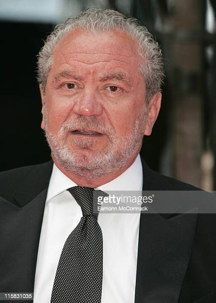 Sir Alan Sugar during 2007 British Academy Television Awards Red Carpet Arrivals at London Palladium in London United Kingdom