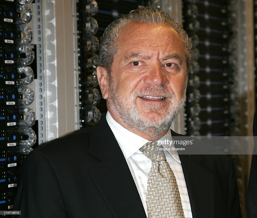 Sir Alan Sugar during Sir Alan Sugar to Open New Computer 'Cluster' - Photocall at Queen Mary, University of London in London, United Kingdom.