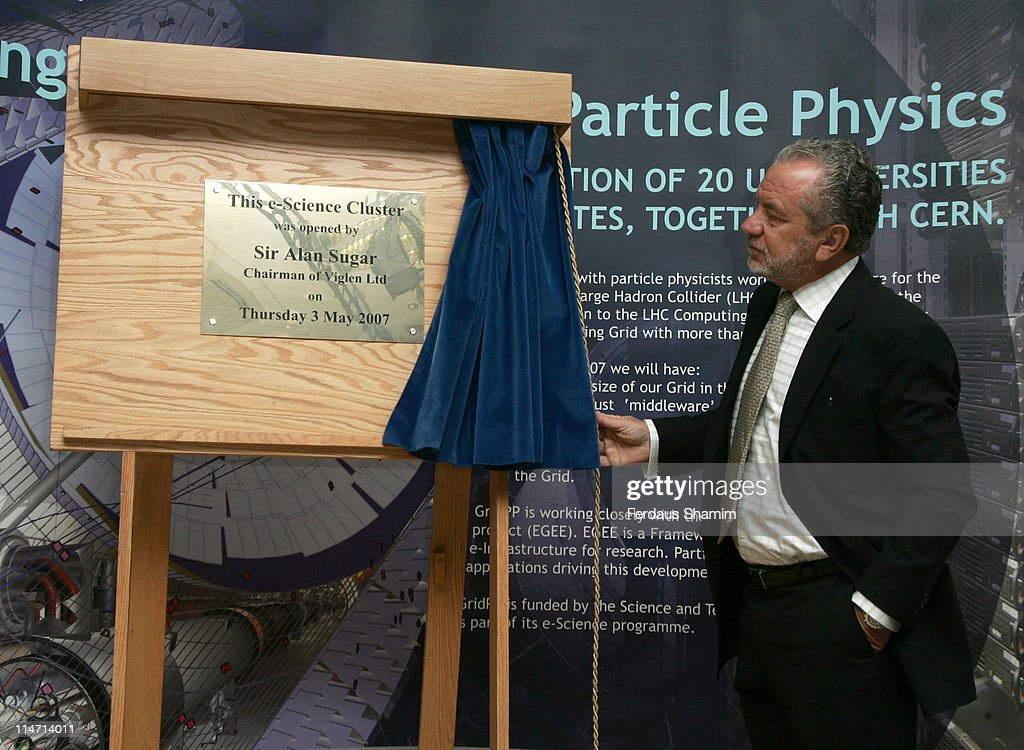 Sir Alan Sugar to Open New Computer 'Cluster' - Photocall : News Photo