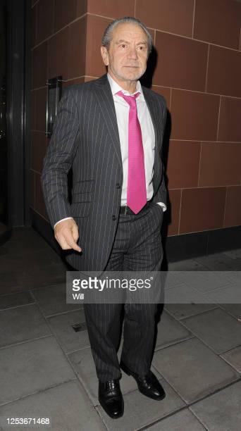 Sir Alan Sugar leaving Cipriani restaurant on October 21, 2009 in London, England.