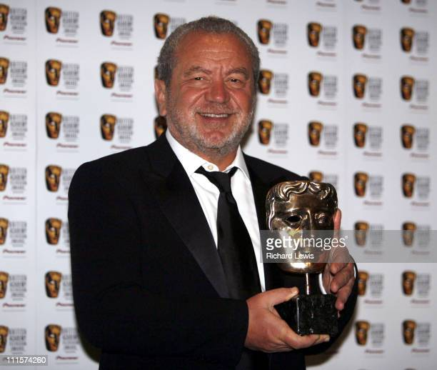 Sir Alan Sugar winner of Best Feature for 'The Apprentice'
