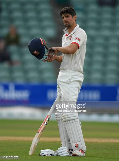 Sir Alastair Cook of Essex looks on during the fourth day of the County Championship Division One match between Somerset and Essex on September 26...
