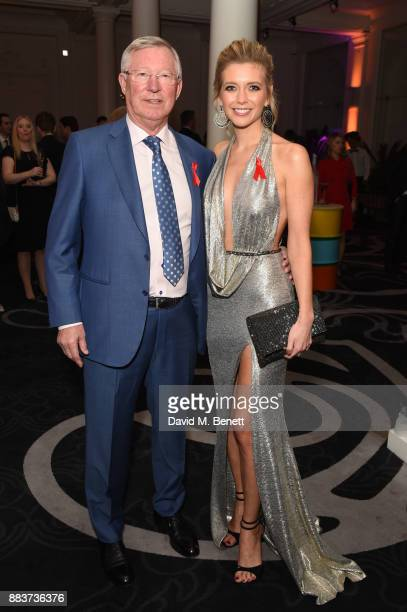Sir Alex Ferguson and Rachel Riley attend the World Aids Day Charity Gala aimed at using football to educate and inspire vulnerable young people in...