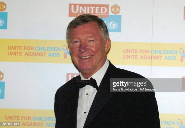 Sir Alex Ferguson arrives at the United for Unicef dinner at Old Trafford Manchester