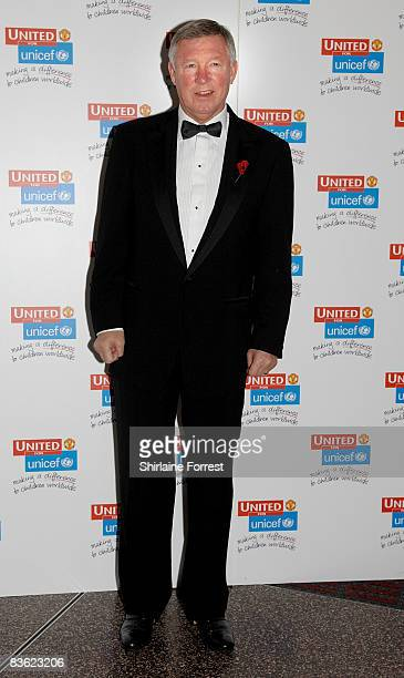 Sir Alex Ferguson attends the Manchester United `United for UNICEF' Gala Dinner at Manchester United Museum on November 9 2008 in Manchester England