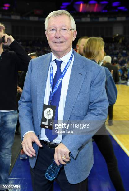 Sir Alex Ferguson attends the Philadelphia 76ers and Boston Celtics NBA London game at The O2 Arena on January 11 2018 in London England