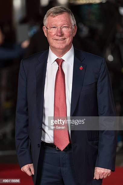 Sir Alex Ferguson attends the World Premiere of Ronaldo at Vue West End on November 9 2015 in London England