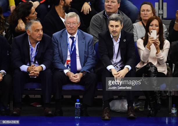 Sir Alex Ferguson during the NBA game between Boston Celtics and Philadelphia 76ers at The O2 Arena on January 11 2018 in London England