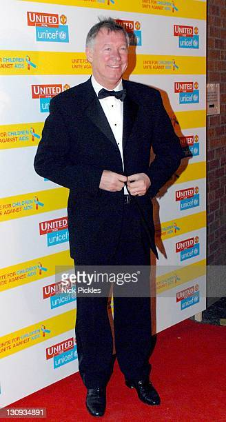 Sir Alex Ferguson during United for UNICEF Gala Dinner Arrivals at Old Trafford Manchester United Football Club in Manchester Great Britain