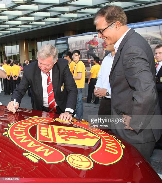 Sir Alex Ferguson of Manchester United attends a Chevrolet Event on July 26 2012 in Shanghai China