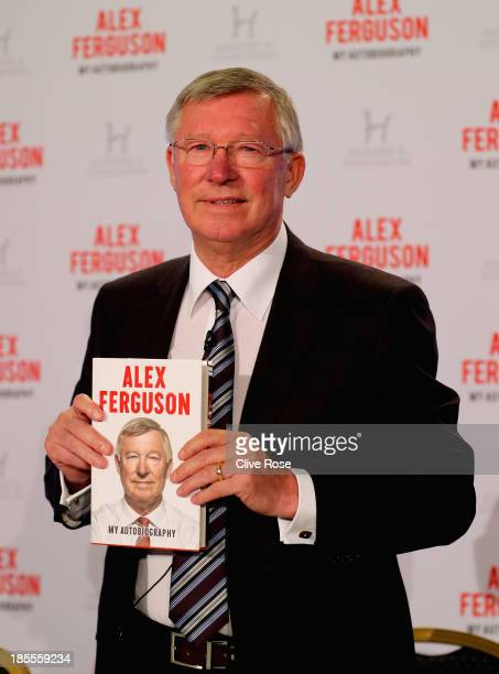 Sir Alex Ferguson poses during a press conference ahead of the publication of his autobiography at the Institute of Directors on October 22 2013 in...