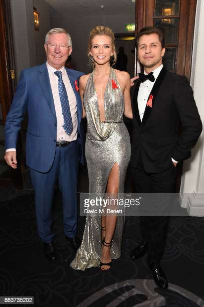 Sir Alex Ferguson Rachel Riley and Pasha Kovalev attend the World Aids Day Charity Gala aimed at using football to educate and inspire vulnerable...