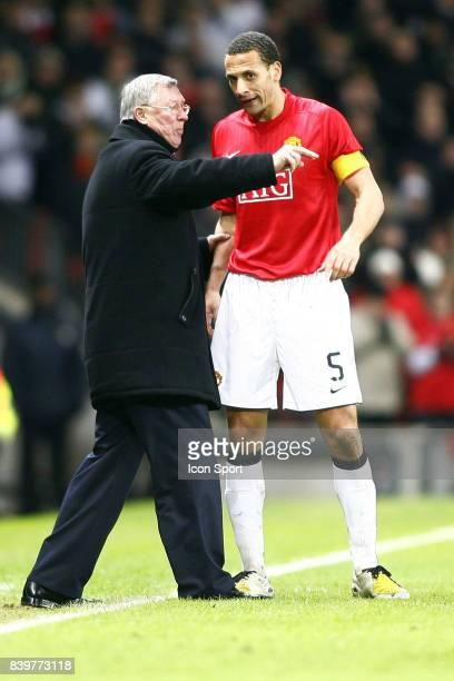 Sir Alex FERGUSON / Rio FERDINAND Manchester United / Lyon Champions League 2007/2008