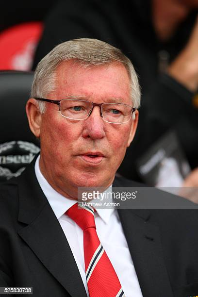 Sir Alex Ferguson the head coach / manager of Manchester United on his 1000th game in charge