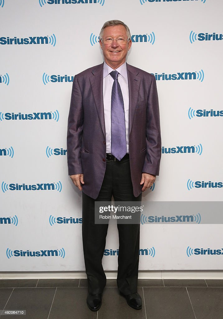 Sir Alex Ferguson visit at SiriusXM Studios on October 9, 2015 in New York City.