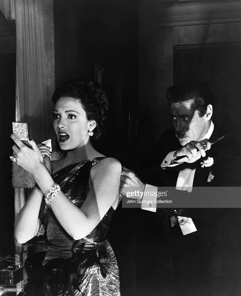 Rex Harrison Creeping Up Behind Linda Darnell : News Photo