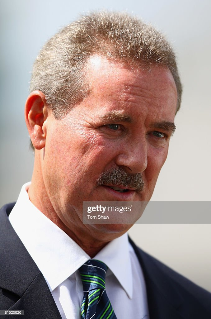 Sir Allen Stanford talks to the press during the press conference for the Stanford 20/20 tournament at Lords Cricket Ground on June 11, 2008 in London, England.