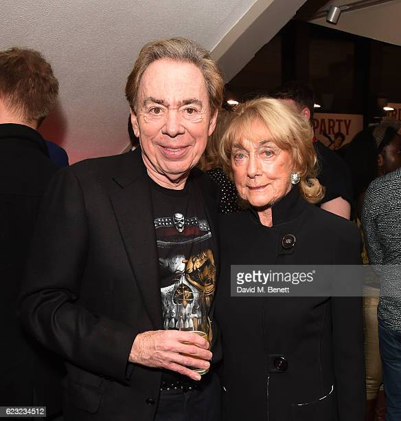 Sir Andrew Lloyd Webber and Gillian Lynne attend the press night performance of School Of Rock The Musical at The New London Theatre Drury Lane on...