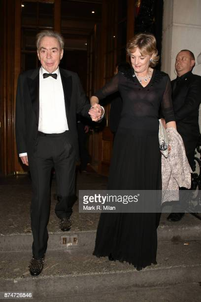 Sir Andrew Lloyd Webber and Madeleine Gurdon attending the The Leopard Awards in Aid of The Prince's Trust on November 15 2017 in London England