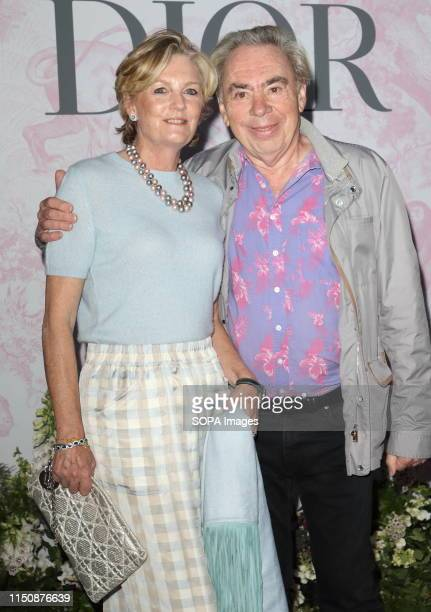 Sir Andrew Lloyd Webber and wife Lady Madelaine at The Victoria and Albert Museum Summer Party in partnership with Dior at the John Madejski Garden...