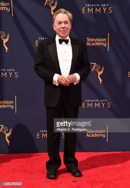 Sir Andrew Lloyd Webber attends the 2018 Creative Arts Emmys Day 2 at Microsoft Theater on September 9 2018 in Los Angeles California
