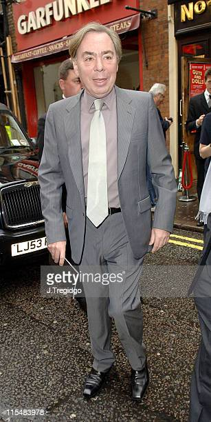 Sir Andrew Lloyd Webber during Guys and Dolls West End London Play Press Night at Piccadilly Theatre in London Great Britain