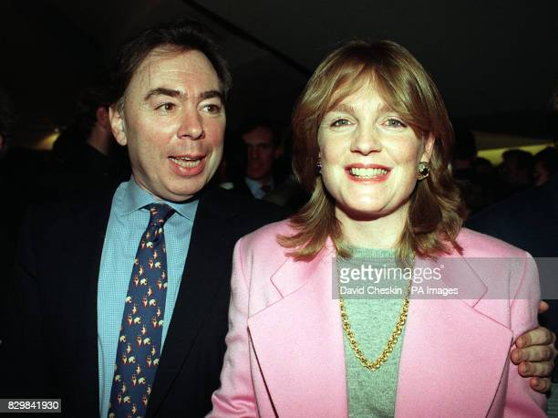Sir Andrew Lloyd Webber with his current wife Madelaine during a party to celebrate 'Cats' becoming the longest running musical in the world last...