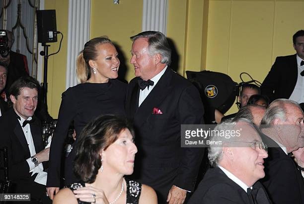 Sir Anthony Bamford and Alice Bamford attend the Cartier Racing Awards at Claridges on November 17 2009 in London England